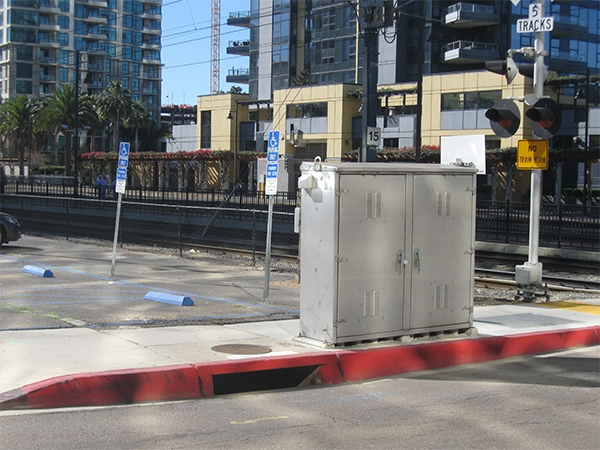 Photo of MTS/NCTD Railroad Equipment Enclosure