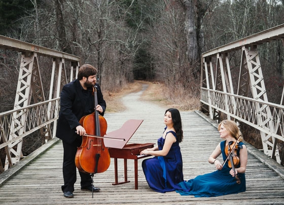 Neave Trio; Anna Williams, violin; Mikhail Veselov, cello; and Eri Nakamura, piano.