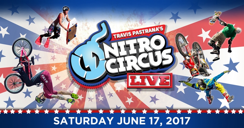 Collage of Nitro Circus live performers