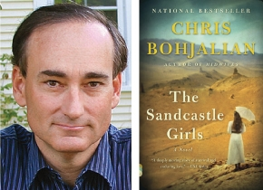 "Author Chris Bohjalian with his book ""The Sandcastle Girls."""