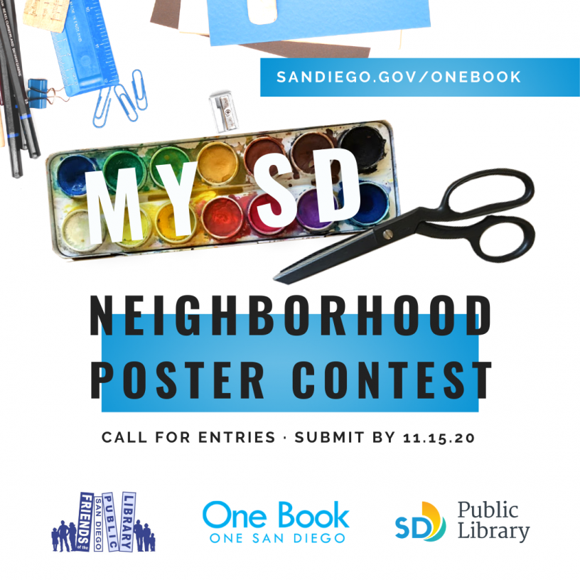 One Book, One San Diego MY SD poster contest promo
