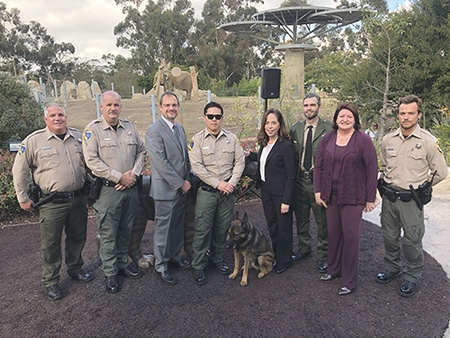 The City Attorney with California's Department of Fish and Wildlife at the San Diego Wild Animal Park