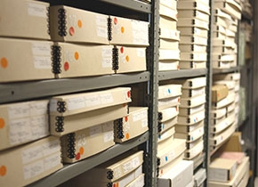 Photograph of Artists Book Vault at the Athenaeum by Victor Ha.
