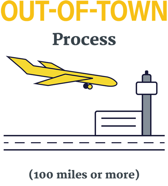 Out-of-town process