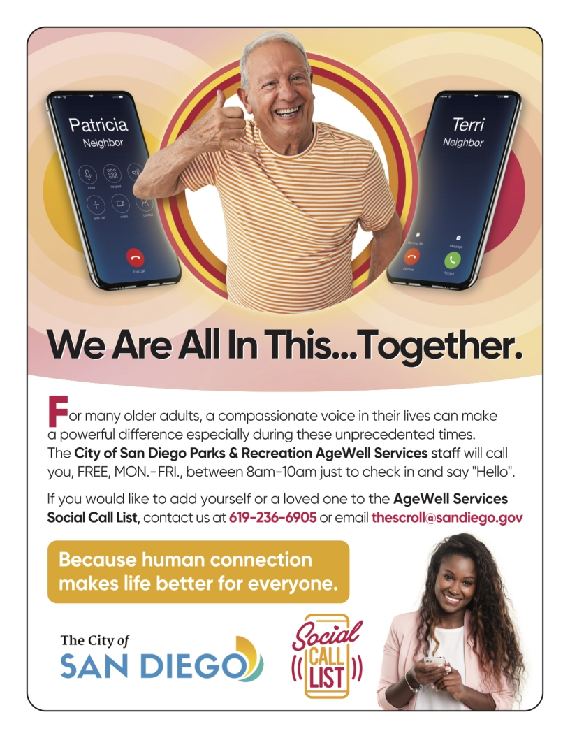 Parks and Rec Virtual Center AgeWell Services Social Call