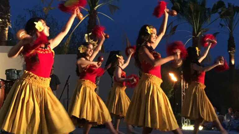 Image of six Polynesian Paradise dancers
