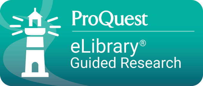ProQuest eLibrary Guided Research Database button