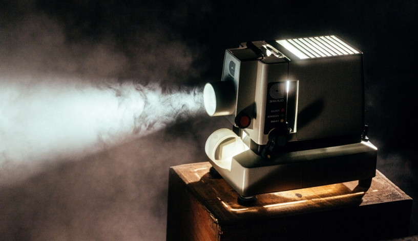 Photo of vintage movie projector