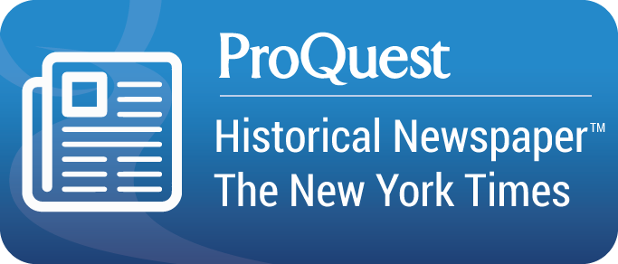 ProQuest New York Times database button graphic