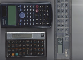 Picture of various calculators