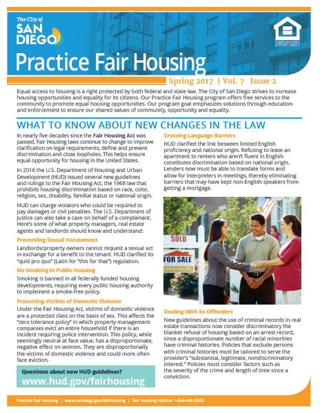 Practice Fair Housing Newsletter March 2017