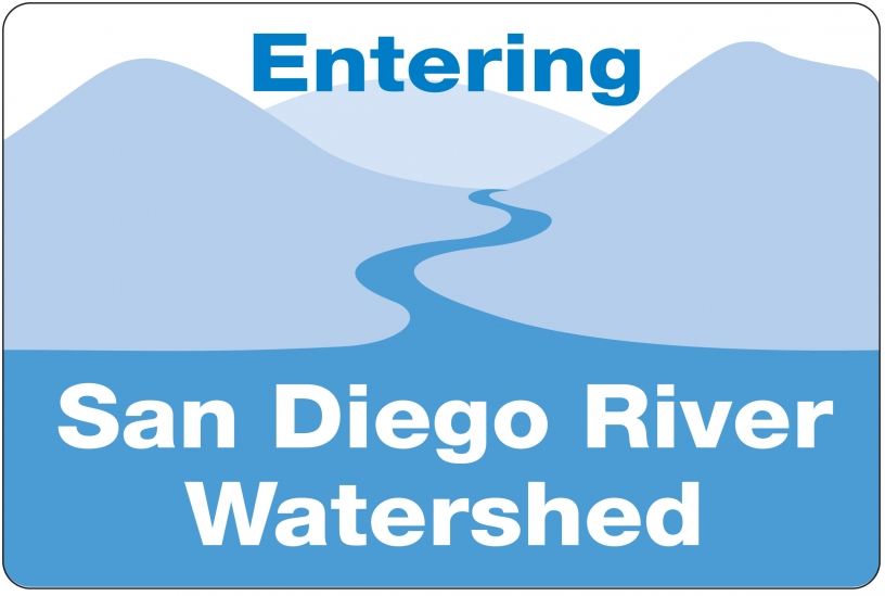 San Diego River Watershed Sign
