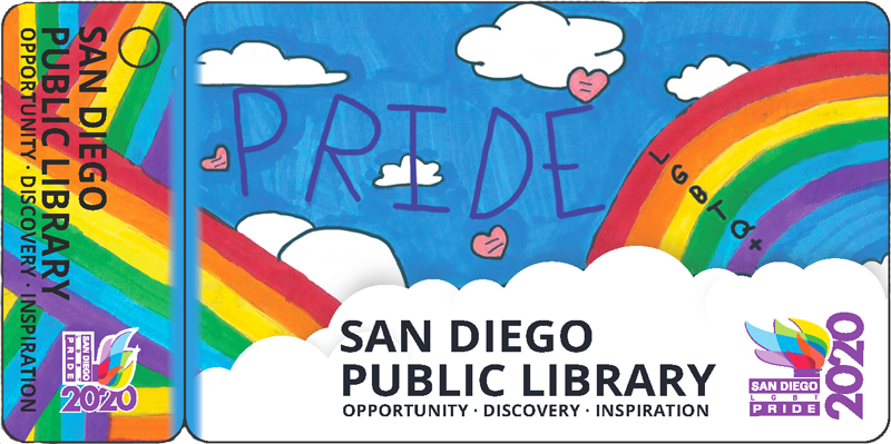 Children's Category Favorite and the card chosen to represent the San Diego Public Library as the 2020 Pride Library Card by Jasmine Nguyen