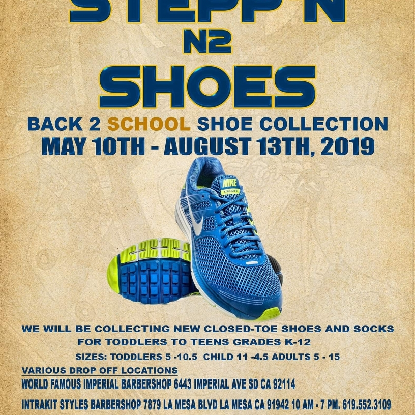 Back To School Shoe Collection Councilmember Monica Montgomery Br