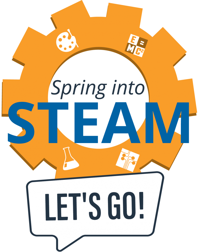 Spring into STEAM: Let's Go! logo