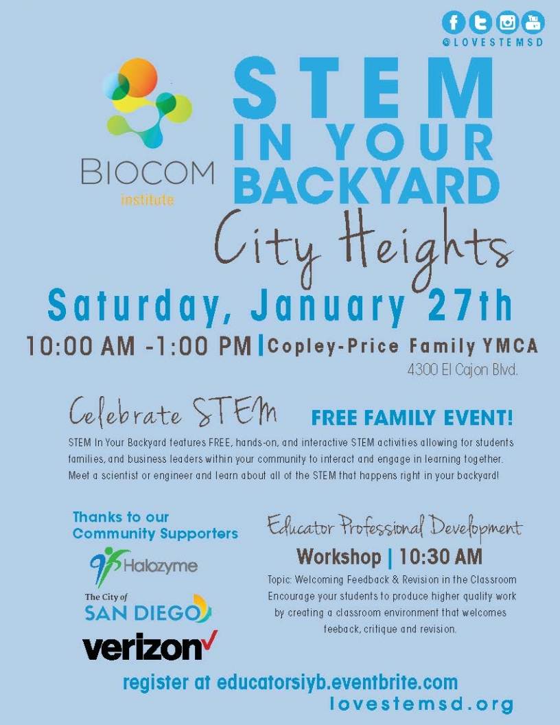STEM In Your Back Yard Event Flyer