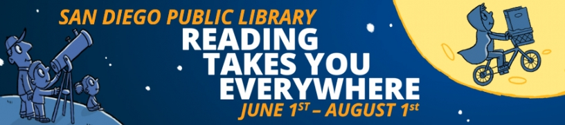 San Diego Public Library summer reading banner