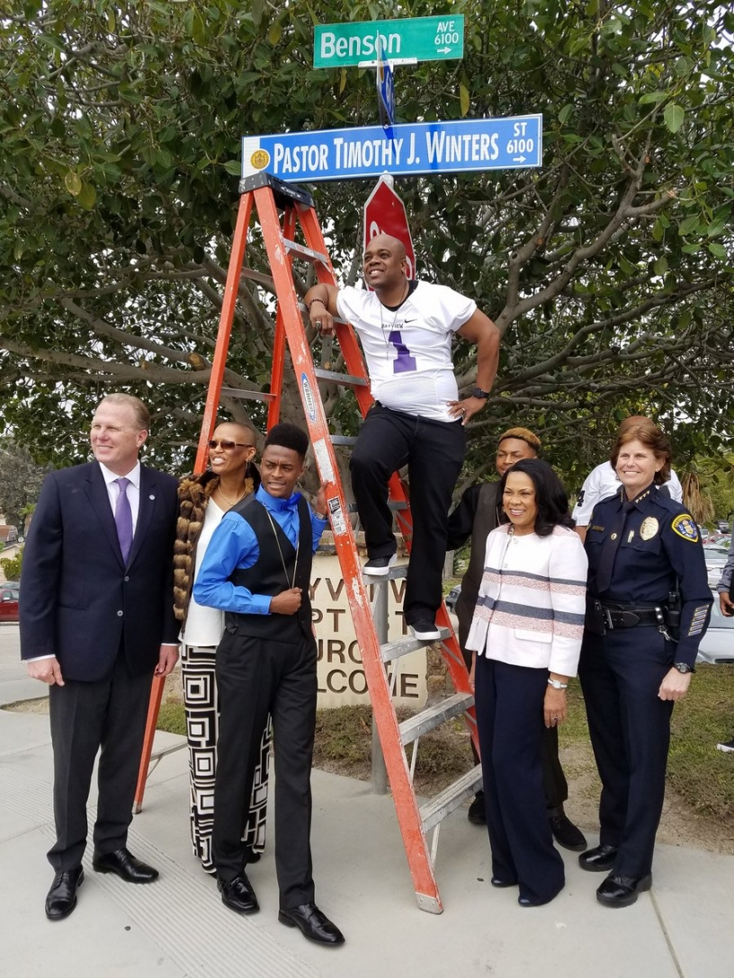 Renaming Benson Avenue to Pastor Timothy J. Winters Street
