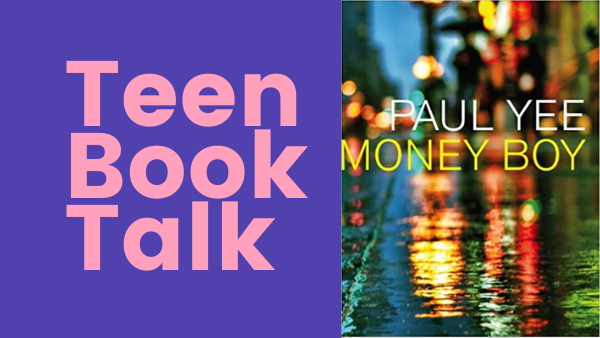 Teen book talk graphic