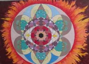 Mandalas and works of abstract realism in oil on canvas by Brian McKnight