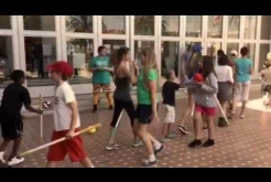 Kids Play Quidditch at the Library