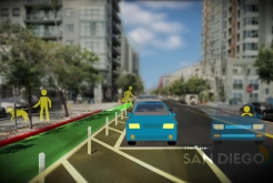 Using San Diego's New Protected Bikeways