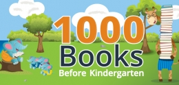 1000 Books Before Kindergarten banner.