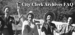 City Clerk Archives FAQ
