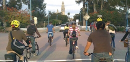 Bicycling in Balboa Park