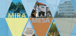 Mira Mesa Community Plan Update Draft Brochure Cover