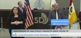 photo of March 26, 2020 City of San Diego COVID-19 Update news conference