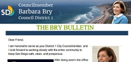Image of Barbara Bry Newsletter The Bry Bulletin