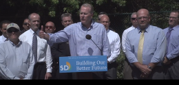 photo of news conference announcing San Diego Cleanup Coalition