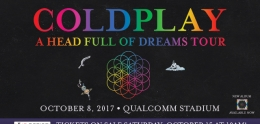 Flyer for Coldplay October 2017 concert
