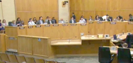 Photo of council meeting