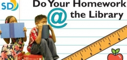 Do Your Homework @ the Library logo
