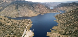 Aerial view of El Capitan Reservoir