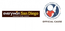 collage of logos for everywon San Diego and San Diego Project Heartbeat