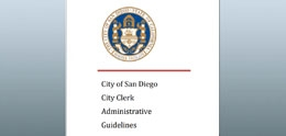 Cover of City Clerk Administrative Guidelines