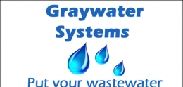Graphic of text, Graywater Systems, Put your wastewater to work