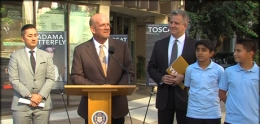 Photo of Councilmember Scott Sherman speaking at news conference