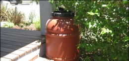 Photo of rain barrel