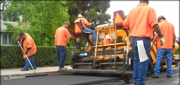 Photo of City Workers Repaving a Street