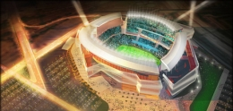Rendering of Qualcomm Stadium