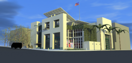 A rendering of the Bayside Fire Station