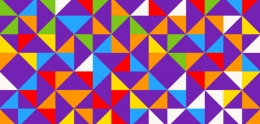 Geometric triangles pattern