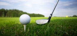 Photo of golf club and ball