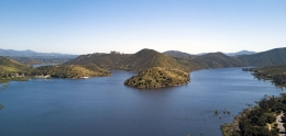 Aerial view of Hodges Reservoir
