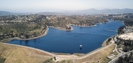 Aerial view of Miramar Reservoir