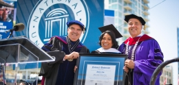 Photo of Council President Cole at National University's Commencement Ceremony